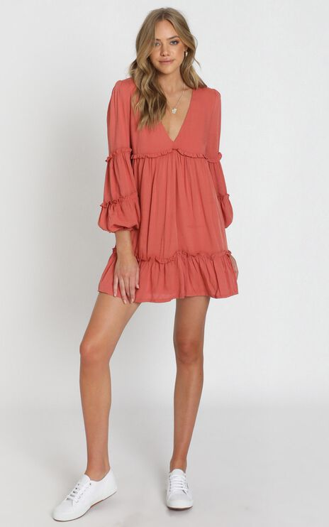 Summer Soul Dress in Rust