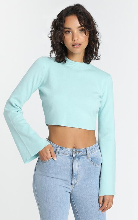 Endless Memories Knit Jumper in Sea Blue