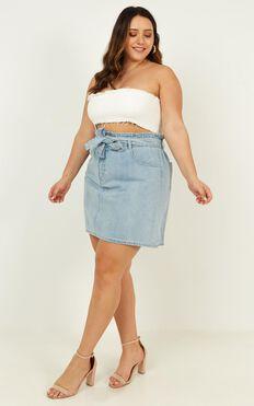 Kyla Denim Skirt In Light Wash