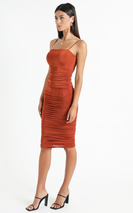 Commit To Me Maxi Dress In Rust