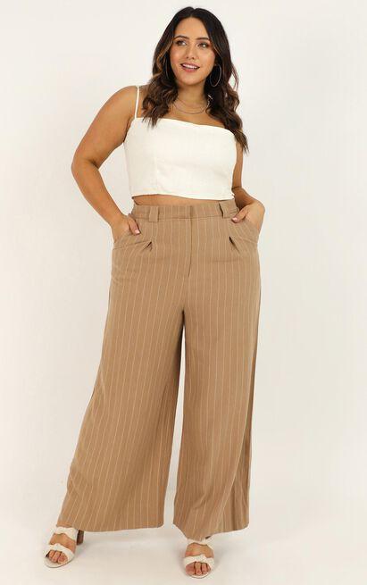 World Is On Fire pants In beige linen look - 20 (XXXXL), Beige, hi-res image number null