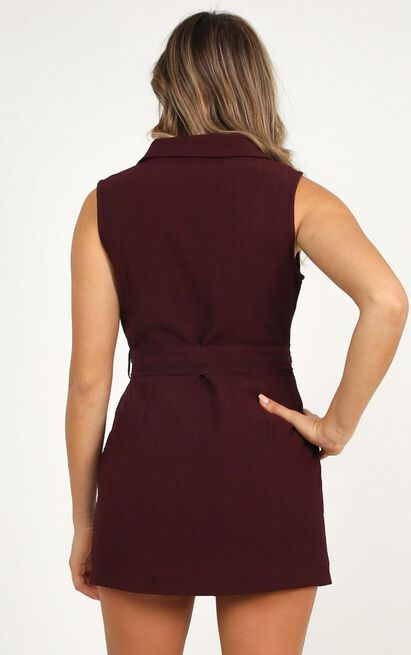 Remember Thinking Playsuit In wine - 20 (XXXXL), Wine, hi-res image number null