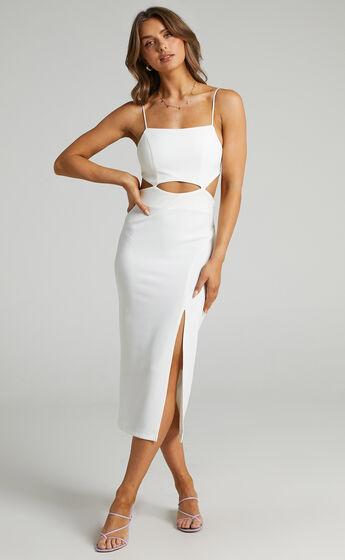 Harper Cut Out Underbust Dress in White