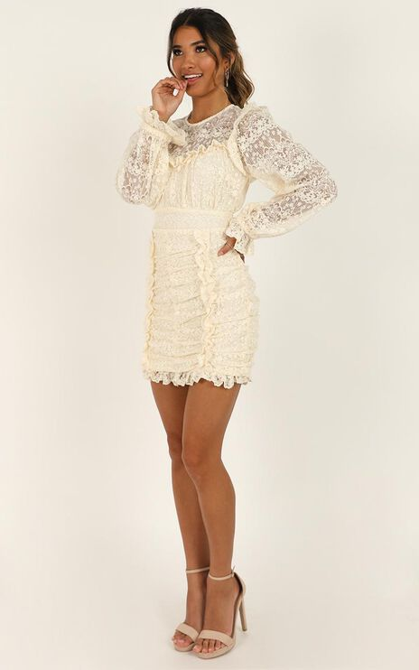Get Through It Dress In Cream Lace