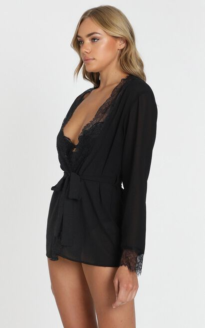 Caring For You Robe in black - 20 (XXXXL), Black, hi-res image number null