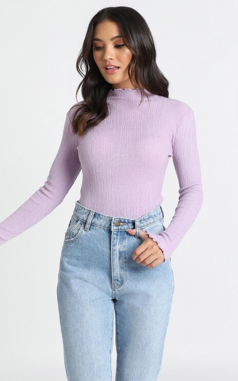Meghan Knit Top In Lilac