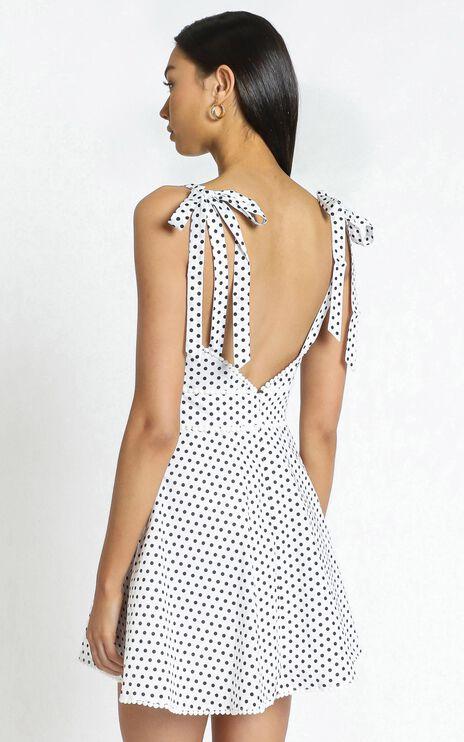 Karalee Dress in White Spot