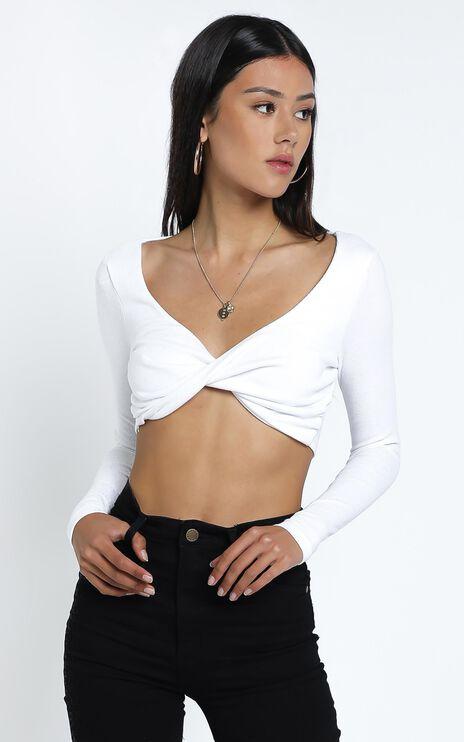 Moxlan Top in White Rib