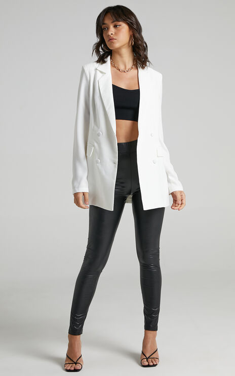 Quick To Win Blazer in White