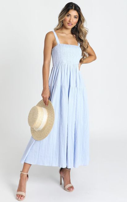 Carie Midi Dress in blue - 14 (XL), Blue, hi-res image number null