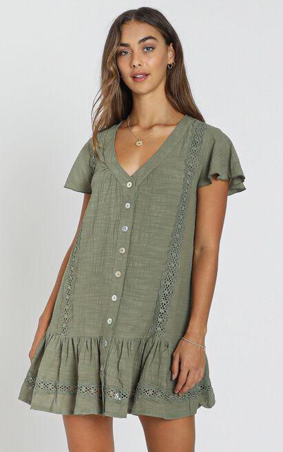 Lulu Dress in Olive, Sage, hi-res image number null