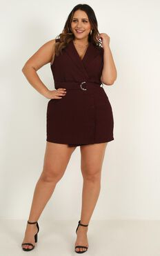 Remember Thinking Playsuit In Wine