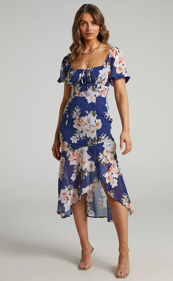 Jasalina Dress in Royal Floral