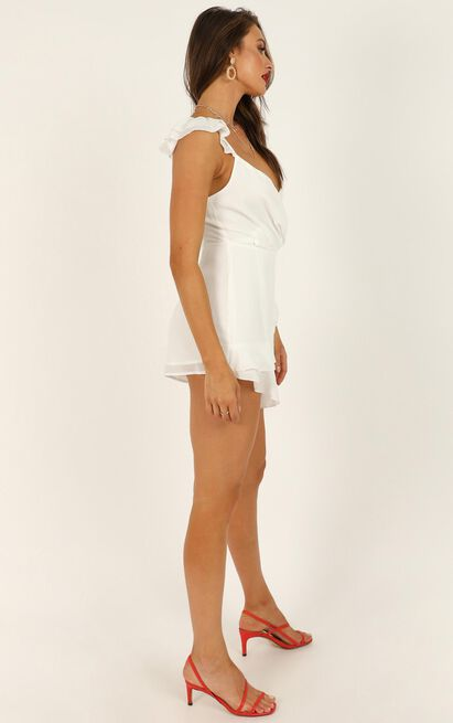 No One Id Rather Playsuit in white - 14 (XL), White, hi-res image number null