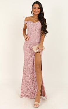 Tell It To The World Dress In Blush Lace