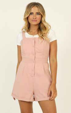 You Have My Heart Playsuit In Blush