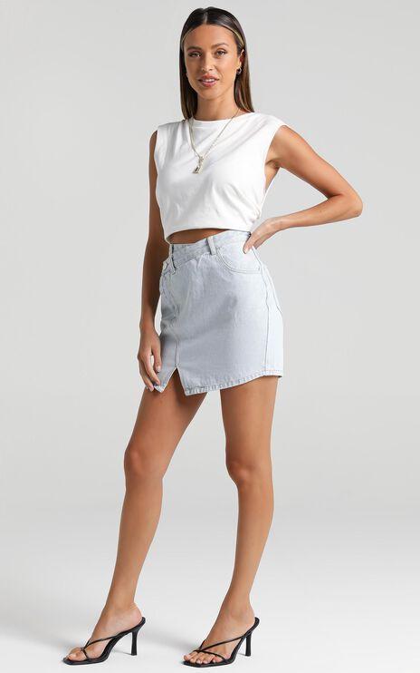 Olea Denim Skirt in Light Vintage Wash