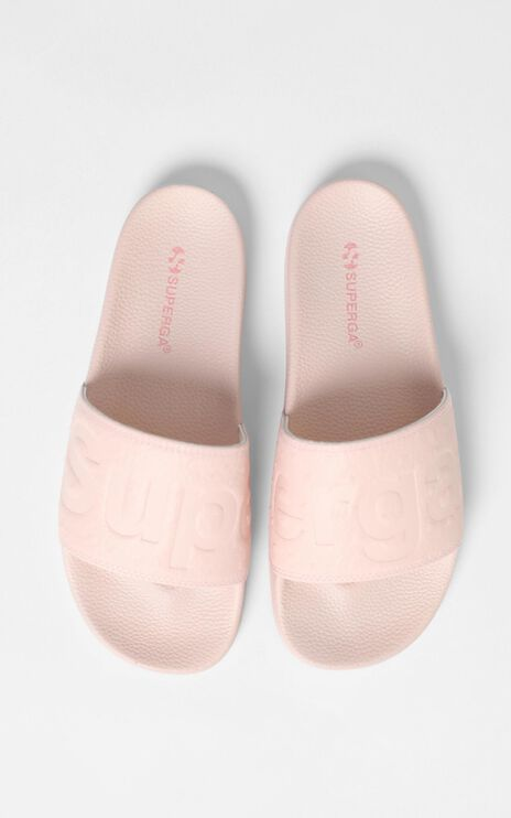 Superga - 1908 Ostrichpuu Slides in Pink Smoke