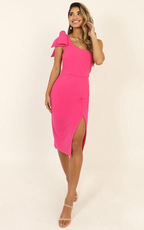 I Got A Feeling Dress In Hot Pink
