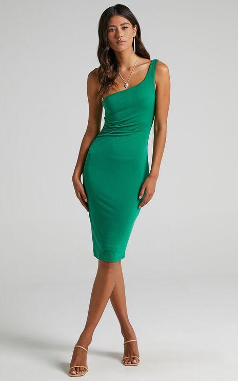 Got Me Looking Dress In Jade