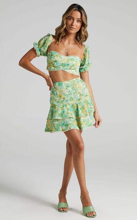 Final Resort Two Piece Set in Fresh Floral