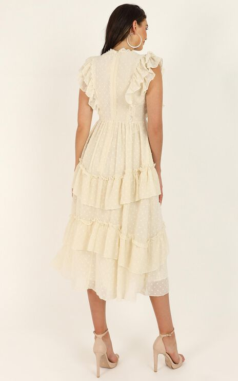 Brighter Flame Dress In Cream