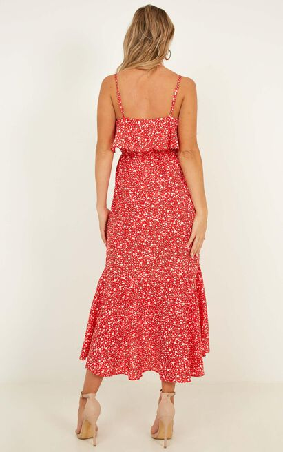 Chasing Butterflies Dress In red floral - 20 (XXXXL), Red, hi-res image number null