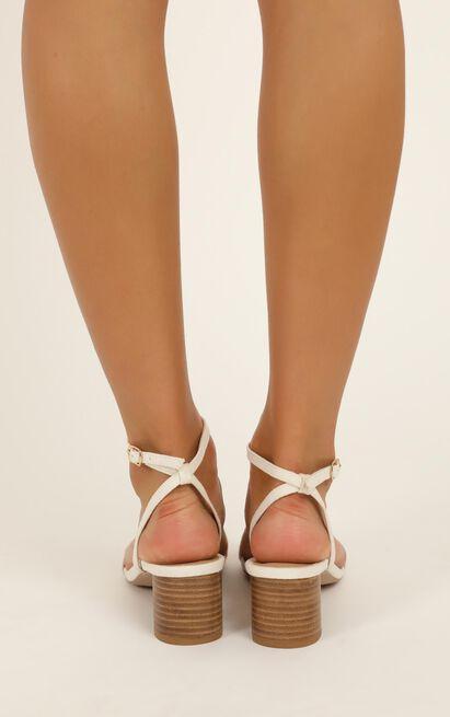 Billini - Zuri Heels in white linen - 10, White, hi-res image number null
