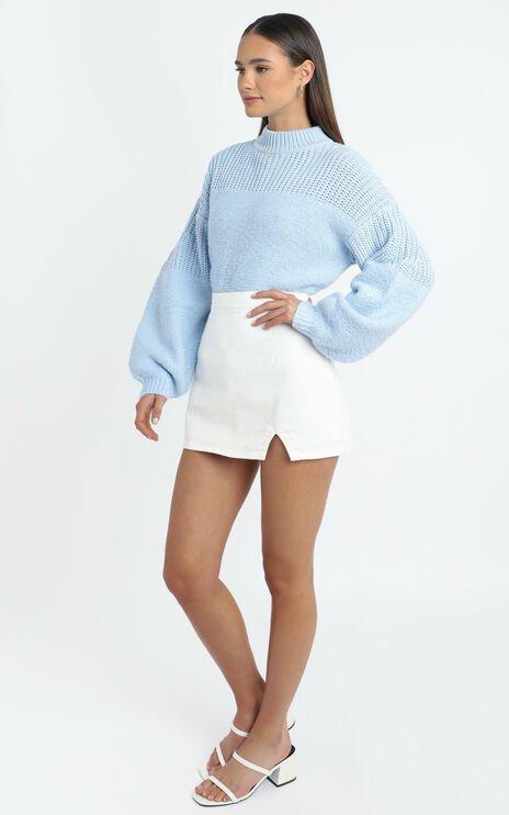 Dakota Knit Jumper in Blue