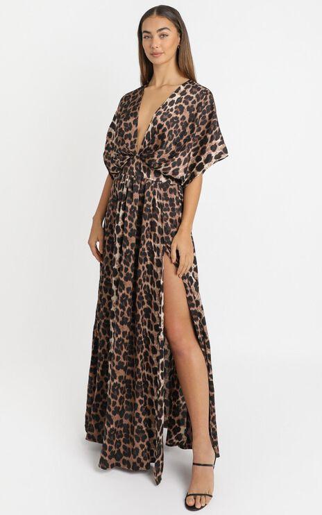 Vacay Ready Maxi Dress in Leopard Print