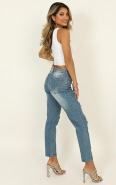 Django Boyfriend Jeans In Blue Denim