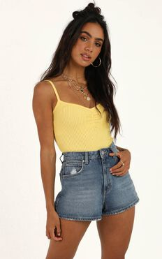 Constant Magic Top In Yellow