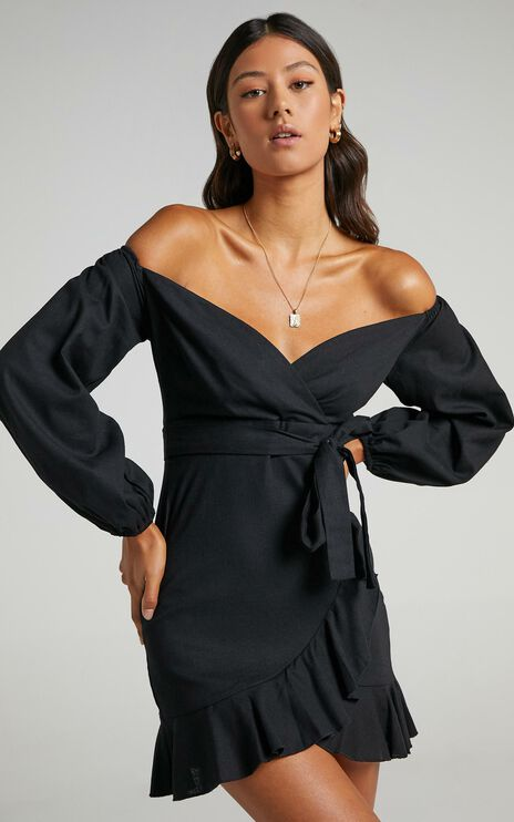 Cant Move On Dress in Black