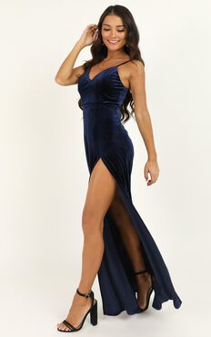 Be Who You Must Dress In Navy Velvet