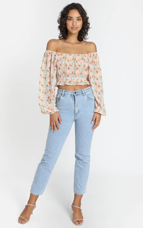 Misha Top in Orange Floral