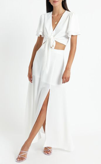 First Thing Two Piece Set in White