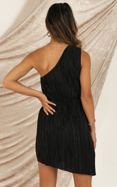 The Good Times dress in black pleat - 14 (XL), Black, hi-res image number null