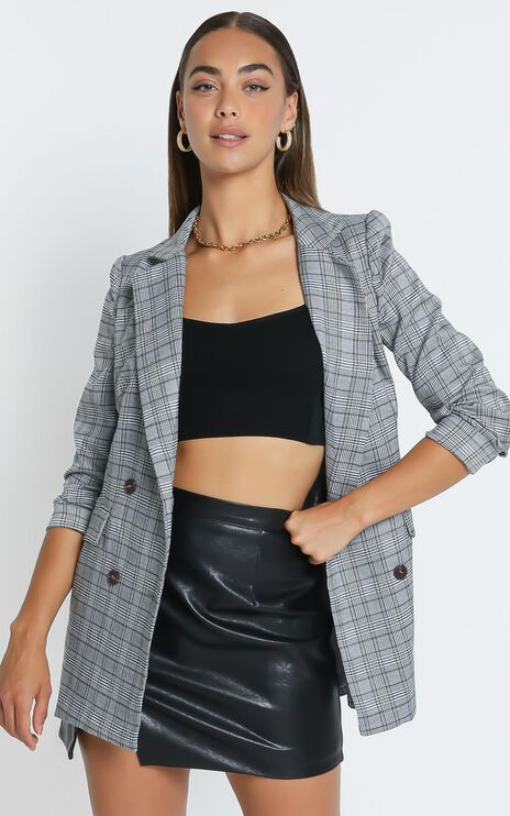 Sort it out Blazer in Grey Check