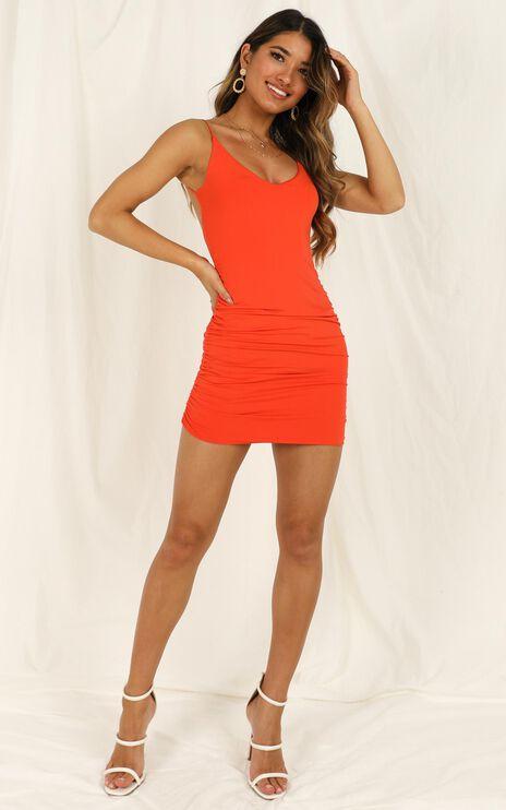 World Of Love Dress In tangerine