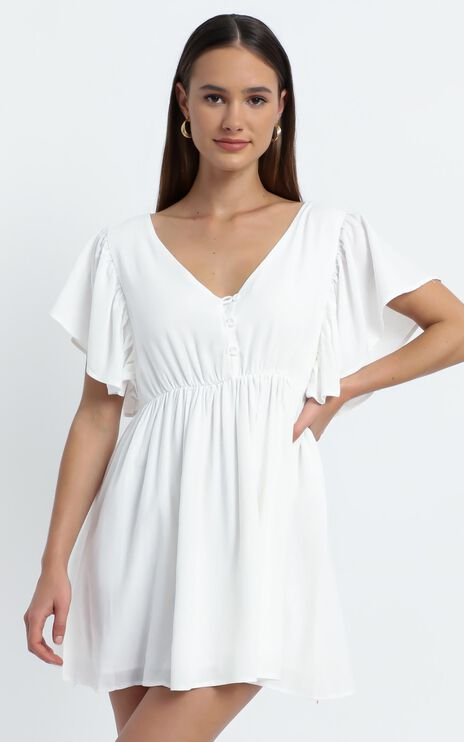 Nebraska Dress in White