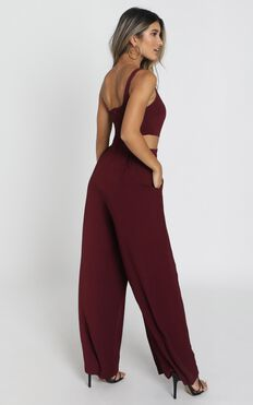 Beautiful Darkness Jumpsuit In Wine
