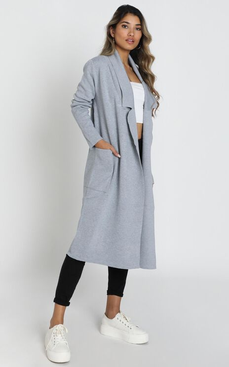 Around The World Coat In Grey Marle
