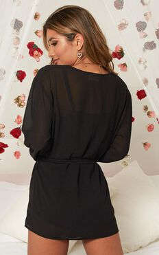 Caring For You Robe In Black