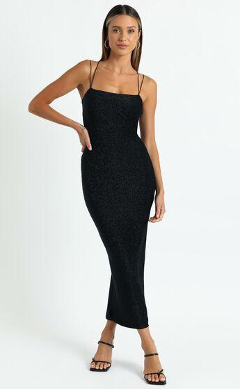 Starry Eyes Dress in Black Lurex