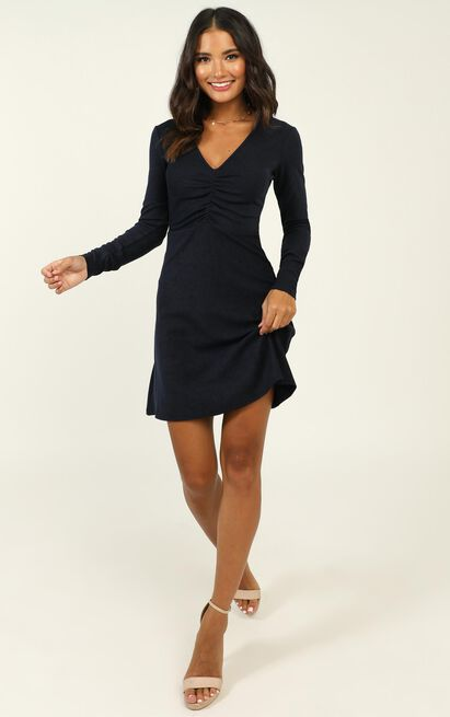 Explore Your Mind Dress in navy - 20 (XXXXL), Navy, hi-res image number null
