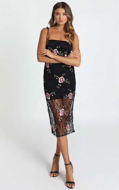 Can We just Talk Dress In black floral lace - 14 (XL), Black, hi-res image number null
