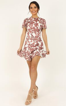 Think You Better Dance Dress In Pink Floral