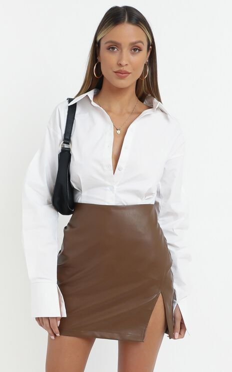 In The Name Of Love Skirt in Chocolate