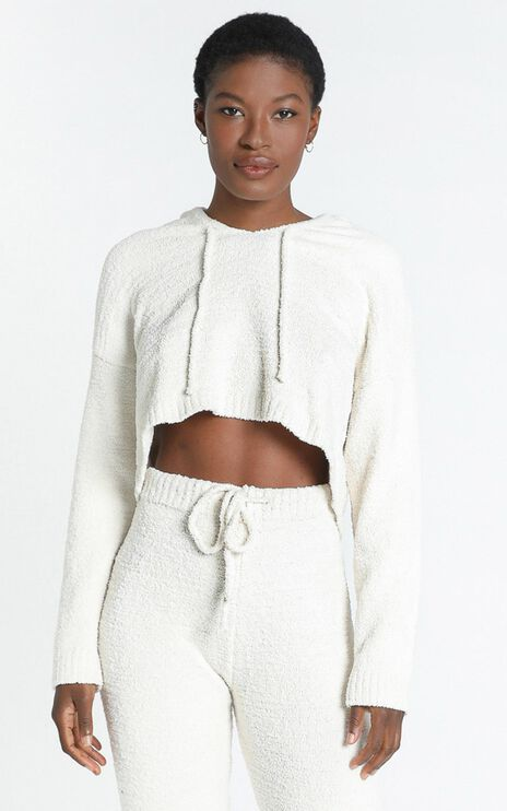 Adelie Super Soft Knit Hoody in Cream