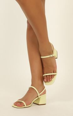 Therapy - Racie Heels In Pastel Yellow
